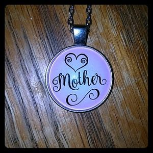 Mother 💖 cabochon necklace